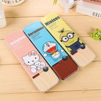 Wholesale lowest price CREATIVE pencil box Student pencil case Creative pen pencil box hello kitty doraemon minions style good gift for kids
