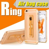 airbag cover - Ring Clear Airbag Ultra Thin Soft TPU with Stand Case For iPhone S SE S PLus Anti shock Shockproof Cover Transparent Air Float Skin