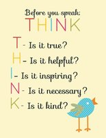 art classroom posters - A414 Think Before You Speak Classroom Motivational Art Silk Poster x36inch