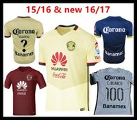 america training - 2016 America club tops home yellow away red soccer jerseys adult tops men de foot maillot best quality uniform training suits
