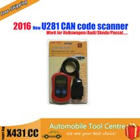 automatic transmission engine - New U281 CAN Code Reader Trouble Codes DTCs of Engine ABS Airbags Automatic Transmission u281 code car diagnostic tool for VW for AUDI