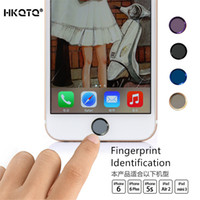 Wholesale Round Mobile Phone Home Button Stickers for iPhone SE S s plus fingerprint identification for iPad Touch Key paster pc