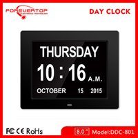 Wholesale digital Large day date time clock Wall Desk Alarm Day Of Week Calendar Clock