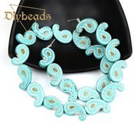 Wholesale Hot Sale Music Symbol Synthetic Turquoise Beads Loose Stone Spacer Beads MM quot Diy Bracelet Necklace For Jewelry