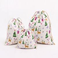 Wholesale christmas gift sacks christmas large canvas sacks bags drawstring bag christmas canvas bags storage bag christmas gift Mobile phone ipad bag