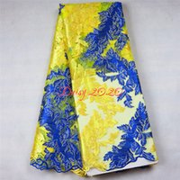 Wholesale Hot african textiles gold lace material indian bridal lace fabric with rhinestone Daisy