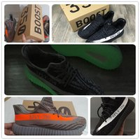 b and w - 350 Boost V2 Season SPLY Kanye West Shoes Begula BB1826 Orange Streaked Sneakers Black White Stripes Season Boost For Men and W