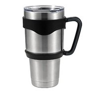 plastic beer cup - Discount Price Branded YETI oz oz Stainless Steel Cup Cars Cooler Beer Rambler Tumblerful Travel Mug High Quality Plastic Handle