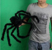 halloween decoration - Black Spider Halloween Decoration Haunted House Prop Indoor Outdoor Wide Soft Plush Toy Reptiles Decoration For Party Activities MC0278