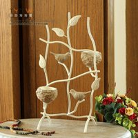 Wholesale 2015 NEW Fine workmanship Romantic European iron resin candlestick bird candlestick Home Furnishing ornaments wedding gifts
