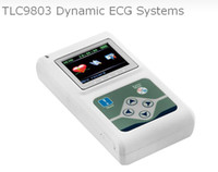 Wholesale TLC9803 Dynamic ECG EKG Systems Electrocardiograph Systems Holter DCG OLED COLOR DISPLAY HOLTER CHANNEL RECORDER