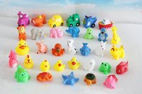 Wholesale kids Rubber water toys toddler baby bath swimming toys Animal BB call sound dolls kids gift Mixed designs