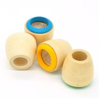 Wholesale Magic bee eye kaleidoscope wooden toys wooden kaleidoscope prism observation colorful world g