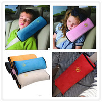 Wholesale 2016 Children Car Safety Belt Soft Harness Shoulder Pad Cover Children Protection Covers Cushion Support Pillow Seat Cushions