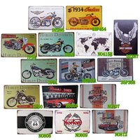 Wholesale Metal Tin Signs The Series Of Motorcycle Home Pub Bar Wall Decoration Art Poster