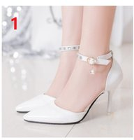Wholesale Sexy Point Toe Patent Leahter High Heels Pumps Shoes Newest Woman s Red Sandals Heels Shoes Wedding Shoes cm Size