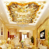 Wholesale Large natural environment of European painting ceiling decoration suitable for non woven wallpaper living room bedroom hotel lobby room shi