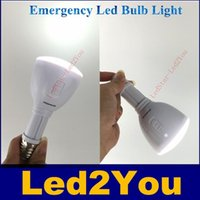 Wholesale V AC to DC E27 W portable Rechargeable LED Emergency Light Lamp Bulb LED Flash Light