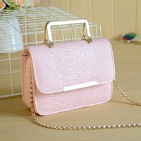 Wholesale 2016 new crocodile bag chain Mini Small Shoulder Bag Messenger Bag Handbag portable cute Korean