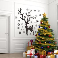 Wholesale Merry Christmas Xmas Tree Santa Claus PVC Removable Display Window Showcase Decor Home Kid Room Wall Stickers
