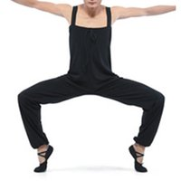 ballet overalls - Black Cotton Lycra Overalls for Boys and Men for Dance Practice Full Sizes Colors Available