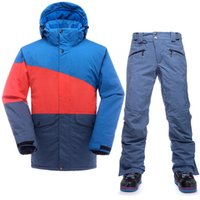 Wholesale Snowboard Set Male Cheap Ski Suit New Jacket Pants Male Waterproof Windproof Breathable Winter Ski Suit Men