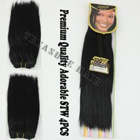 adorable hair weave - 6PCS Adorable Yaki Straight inch Color1 Jet Black Hair Extension Premium Quality Hair Weave Best Quality Weft