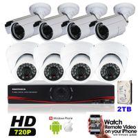 Wholesale HD MP TVL Surveillance CCTV System Kits CH AHD CCTV DVR P IR Indoor Outdoor Security Cameras System IR CUT TB HDD