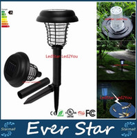 anti bug lights - UV LED Solar Powered Outdoor Yard Garden Lawn Light Anti Mosquito Insect Pest Bug Zapper Killer Trapping Lantern Lamp