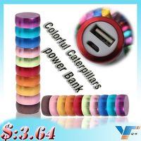 caterpillars - Colorful Caterpillars mAh Power Bank Portable Power Bank Aluminum Cylindrical Charging Treasure