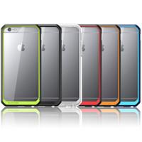 Pour iPhone6 Supcase Case Hybrid TPU pare-chocs Transparent Hard Cover PC Housse Pour iPhone 5S 6 6S Plus Samsung Note 5 S6 Edge Plus