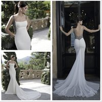 beaded godet dress - 2016 Beaded Godet Gown By Tarik Ediz Couture Evening Growns Ivory Chiffon Low Scoop Back Straps Formal Special Occasion Dresses