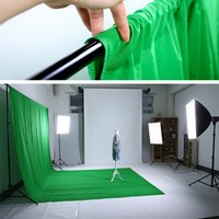 Wholesale New Photo studio vedio photography m x m Photo Studio Solid Muslin Backdrop Background Green chromakey PSB3C chroma key