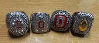 al por mayor champion rings-Los 4 anillos de PCS Ohio State Buckeyes Campeón Nacional Replica Campeonato de los Anillos tamaño 11 con el caso de la joyería