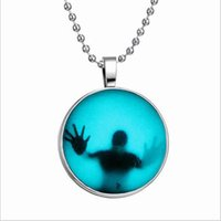 Wholesale Halloween sales hot Punk style luminous pendants Creative fashion necklace Foreign trade jewelry