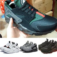 Wholesale 2016 New Black green huarache Shoes Breathable trainers air Huarche femme hurache running shoes Athletic Shoes