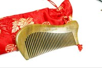 acupuncture supplies - The supply of authentic natural fragrance Green Sandalwood comb without static can effectively stimulate the acupuncture points