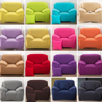Wholesale 16 Colours Sofa Cover Stretch Fabric Slipcover Elastic Single Two Three Four seater Sofa Cover Can be Machine Wash