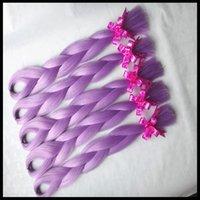 Wholesale 5 Pack synthetic Braiding Hair quot G LIGHT MAUVE LAVENDER Kanekalon Senegalese Twists Synthetic Jumbo Box Braiding Hair