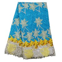 Wholesale african hollandia wax lace fabric yards piece FW22 balk lace fabric wax print lace fabric