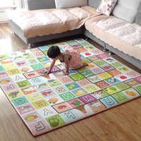 Wholesale Cute Game Fruits Letters Thickness Baby Crawling Mat Crawling Pad Game Mat Hot Selling