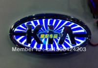 Wholesale d LED car sticker LOGO light red badge light emblems sticker Kia series