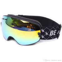 Wholesale Snow Ski Snowboard Goggles Anti Fog colorful Lens SNOW Double layer lens for man and woman can wear glasses