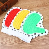 Wholesale Pet bath massage bath brush rubber gloves suit for cat and dogs round head elastic
