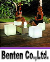 Wholesale Led Chairs Wholesale - new fashion led cube Outdoor Garden LED Cube Chair Lighting for outdoor decoration the garden LLFA188
