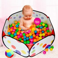 Wholesale Hot Sale cm Kids Safe Polka Dot Hexagon Playpen Indoor Ball Pool Play Tent Safety Mesh Baby Playpen Baby Play