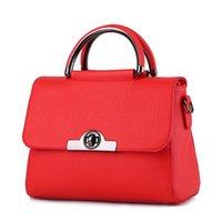 Cheap Fashion Lady Shoulder Bag OL Women Handbag Solid Color PU Leather Bag High Quality Totes Cross Body Bag Black Red 11 colors Drop Shipping