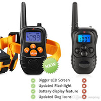 Wholesale Newest Yards Rechargeable Weatherproof Dog Training Collar Electric Shock Vibra LCD Remote for Large Medium Large Dogs Pet Orange