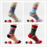Wholesale New Winter Thermal Cashmere Socks Women Warm Rabbit Wool Socks Women s Thicken Socks pairs