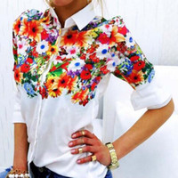 Wholesale 2016 explosion of digital printing all match white color shirt with long sleeves